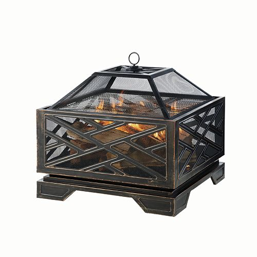 Martin 26-inch Outdoor Fire Pit in Oil-Rubbed Bronze