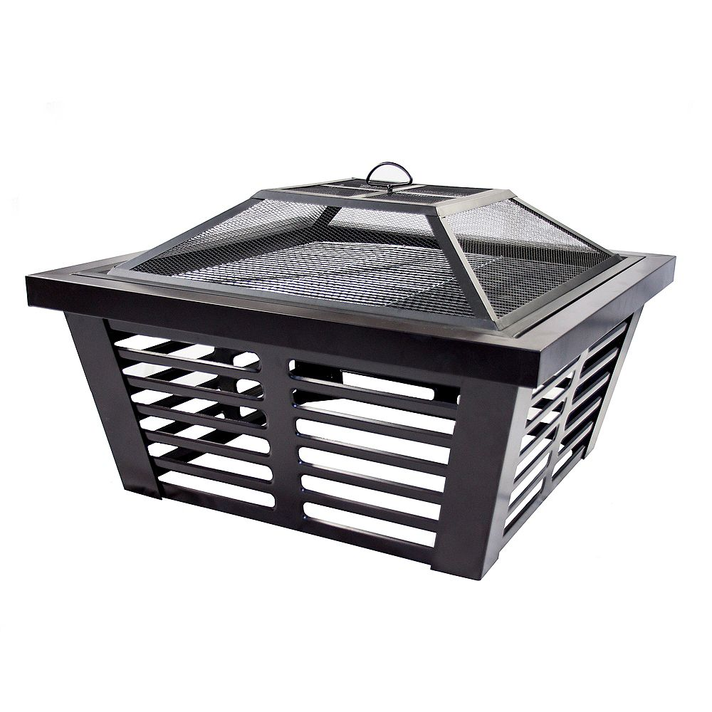 Pleasant Hearth Hudson 34-inch Steel Wood Burning Outdoor Fire Pit