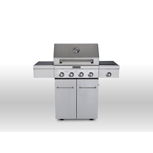 4-Burner Gas BBQ with Side Sear Burner