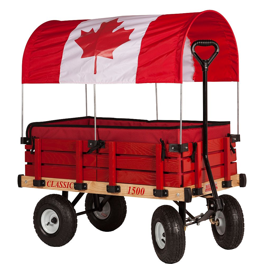 Millside Industries Classic Kids Wagon with Canada Canopy
