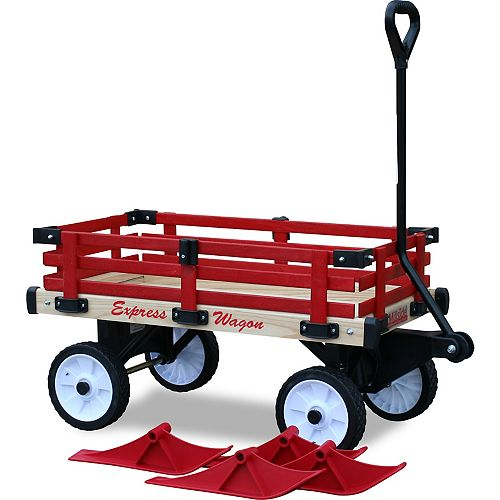Convertible Sleigh Wagon with Red Rails
