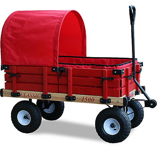 Classic Covered Kids Wagon