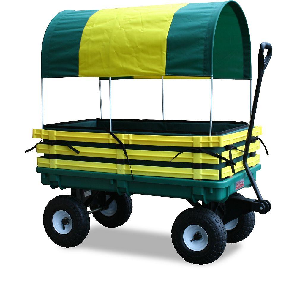 Millside Industries Kids Covered Trekker Wagon
