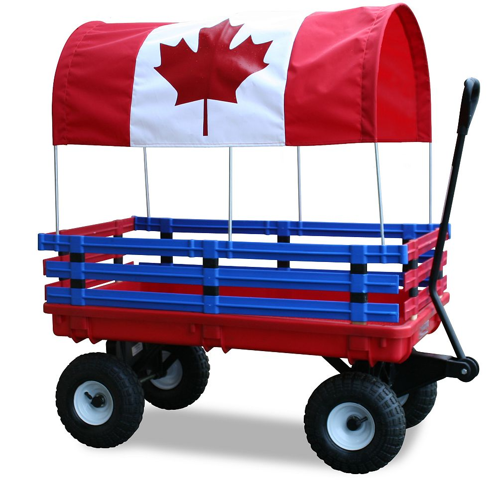 Millside Industries Kids Canada Flag Trekker Wagon