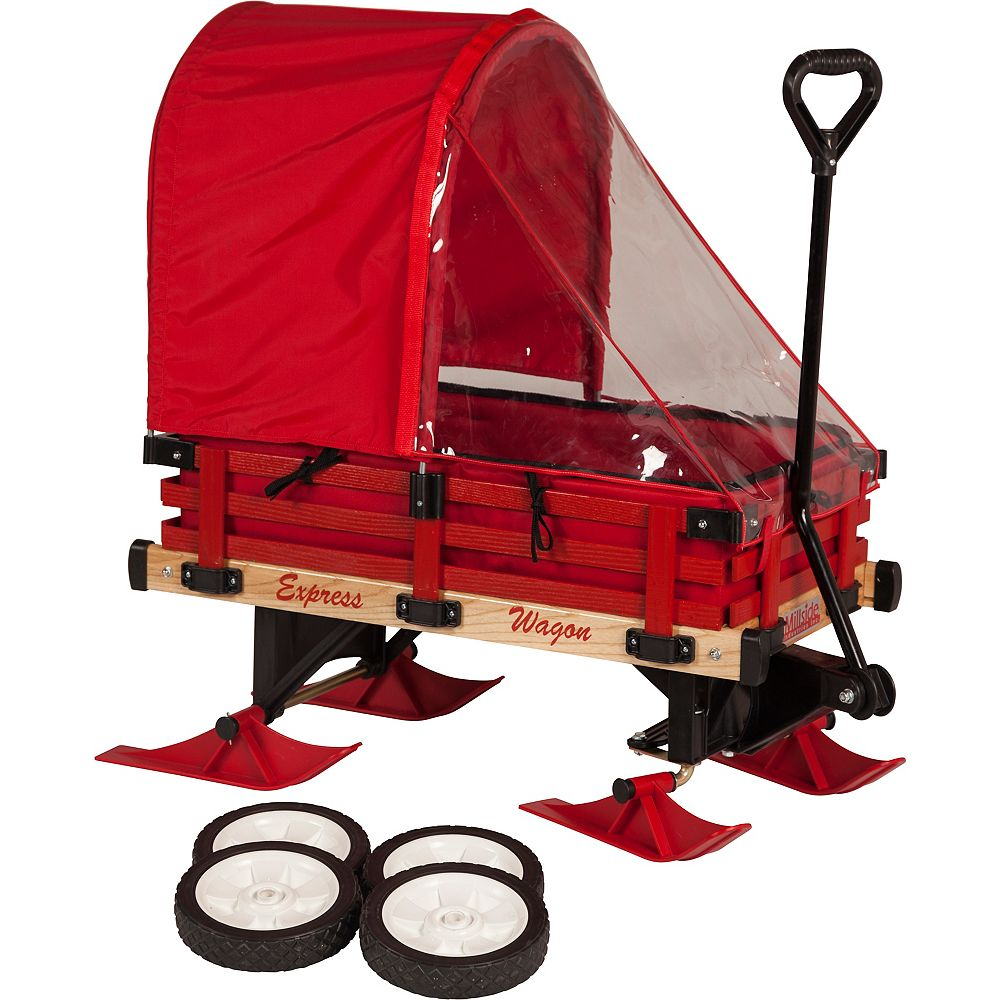 Millside Industries Deluxe Convertible Sleigh Wagon in Red