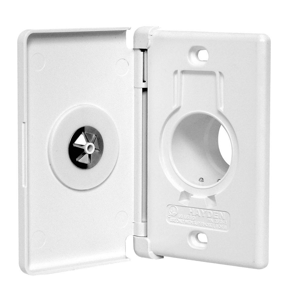 Nuera Air Central Vacuum Side Door Inlet - White