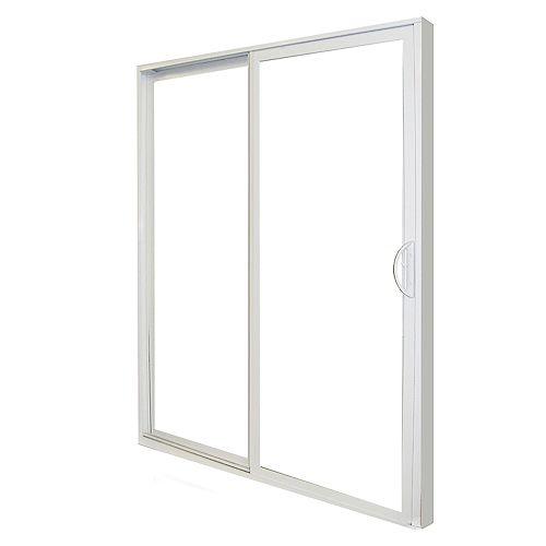 5-foot-Wide Right Hand (RH) Sliding Patio Door PVC (58 ¾ inch x 79 ½ inch)- ENERGY STAR®