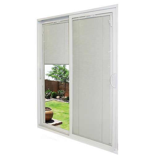 71-1/2-inch x 79 1/2-inch x 5-3/4-inch Jamb Depth Double Sliding PVC Patio Door in White - ENERGY STAR®