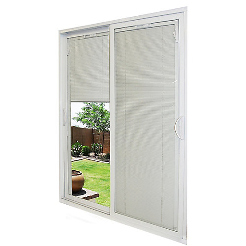 59-1/2-inch x 79 1/2-inch x 5-3/4-inch Jamb Depth Double Sliding PVC Patio Door in White - ENERGY STAR®