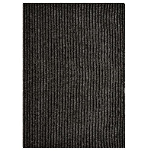 Lanart Rug Tapis de passage, 2 pi 4 po x 82 pi, noir Impact Rib