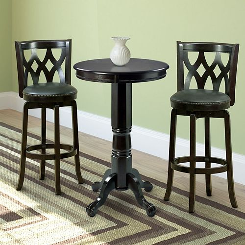 Woodgrove Wood Bistro Set In Dark Cappuccino