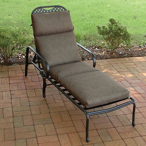 Chaise Cushion-Solid Oasis Java in Brown