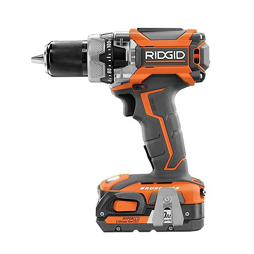 18V Li-Ion Cordless Brushless Hammer Drill Kit with (1) 1.5Ah Battery and Charger