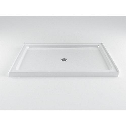 Strada 48-inch W x 36-inch D Acrylic Shower Base in White
