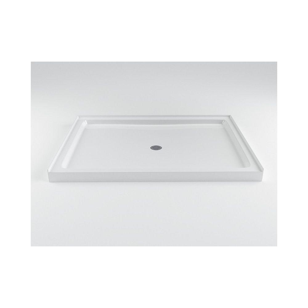 Mirolin Strada 48-inch W x 36-inch D Acrylic Shower Base in White