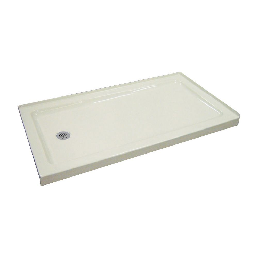 Mirolin Strada 60-inch W x 30-inch H Shower Base Acrylic in White