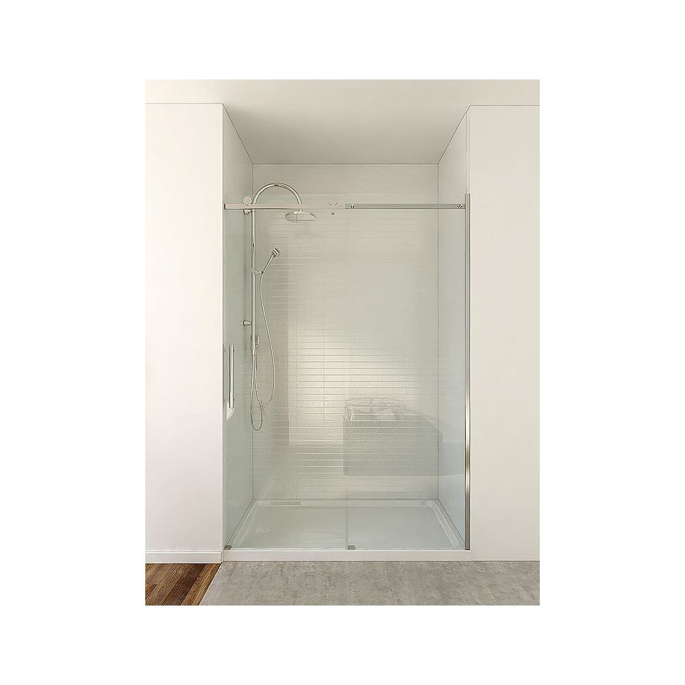 Mirolin 46.50-inch x 74.50-inch Frameless Rectangular Bypass/Sliding Shower Door and Towel Bar