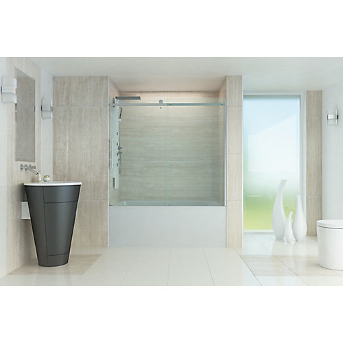 60 Inch Roll Top Bathtub Door.