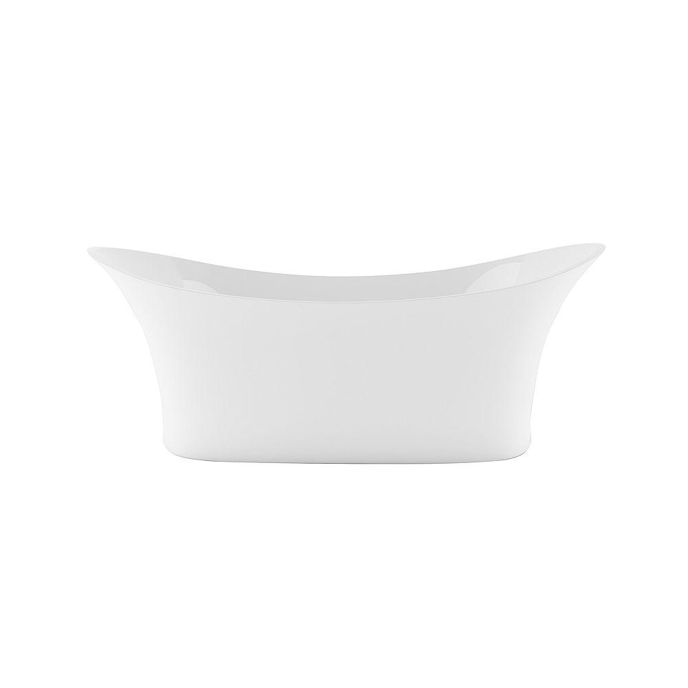Mirolin Sussex 31.50-inch W x 27-inch H Freestanding Flat-bottom Bathtub Acrylic in White