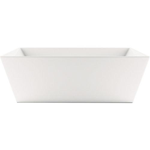 Slate 5 ft. 6-inch Acrylic Freestanding Bathtub in White