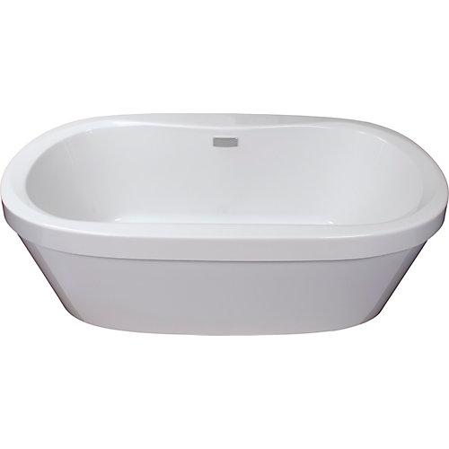 Cari 5 ft. Acrylic Freestanding Bathtub in White