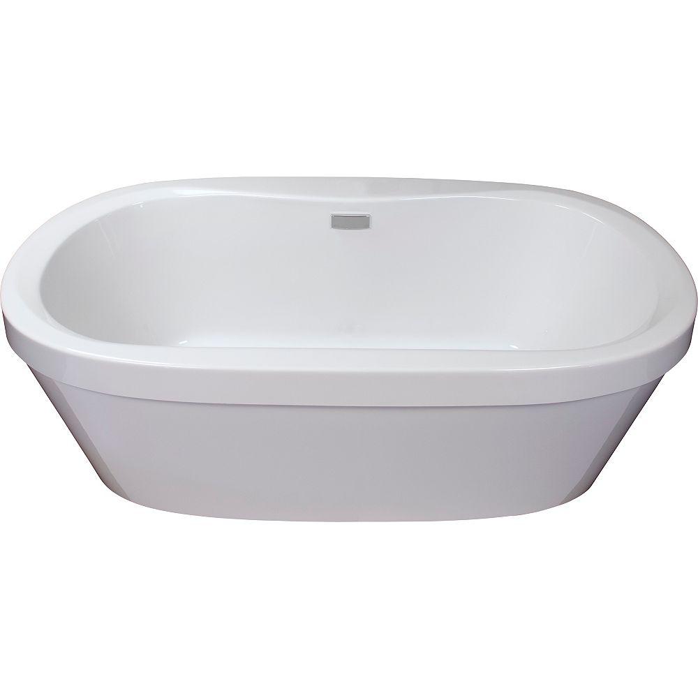 Mirolin Cari 5 ft. Acrylic Freestanding Bathtub in White