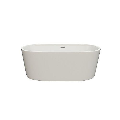 Ilusa 5-ft. Acrylic fibreglass Freestanding Bathtub in White