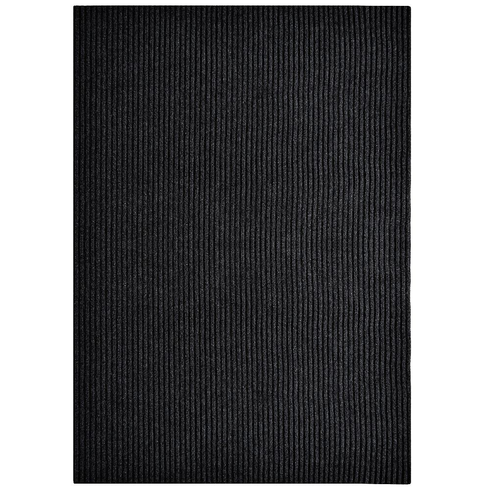 Lanart Rug Black Impact Rib Mat - 4 Feet by 6 Feet