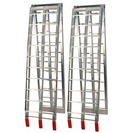 Rampes pliantes en aluminium (argent)