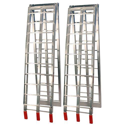 Folding Aluminium Ramps (Silver)