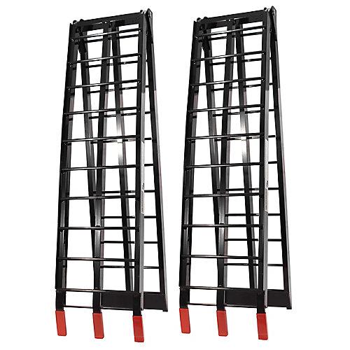 Folding Aluminium Ramps (Black)
