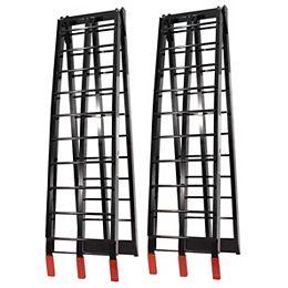 Rampes pliantes en aluminium  (Noir)