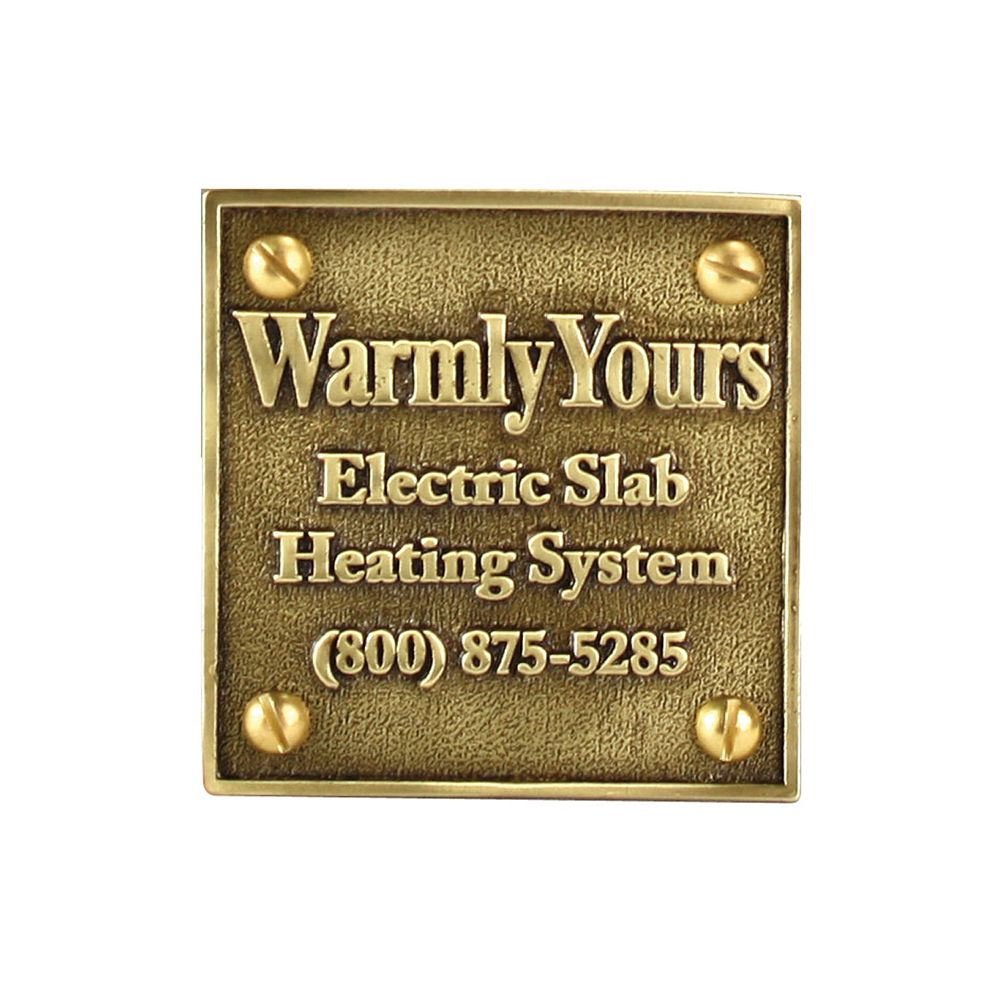 WarmlyYours Snow Melt Plaque