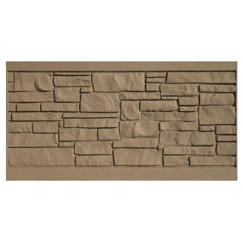 EcoStone 3 X 6  Fence Panel - Brown Granite