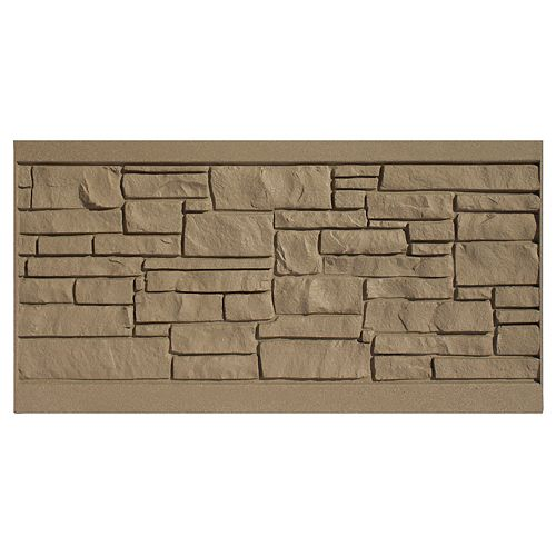 3 X 6  Fence Panel - Brown Granite
