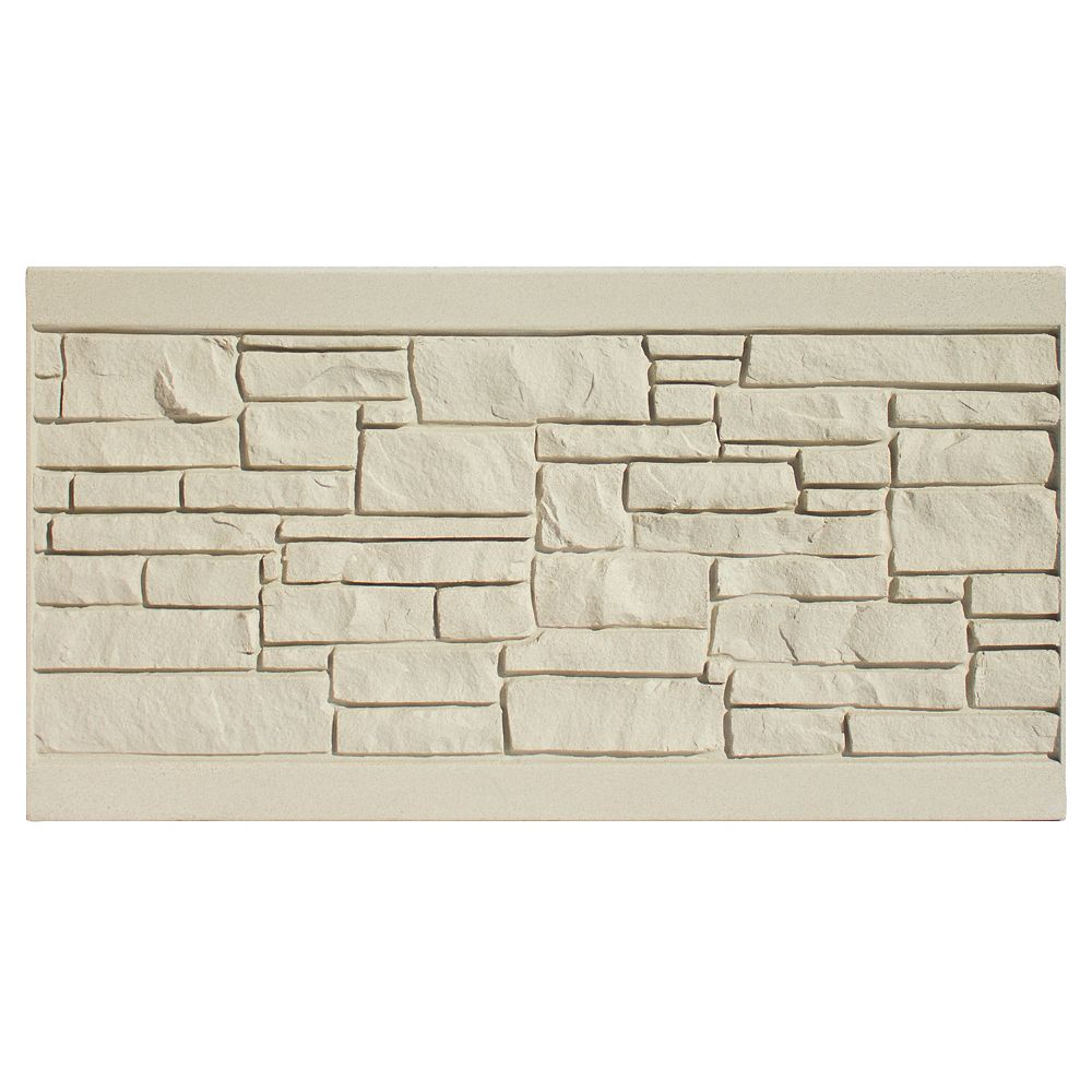 EcoStone 3 X 6  Fence Panel - Beige Granite