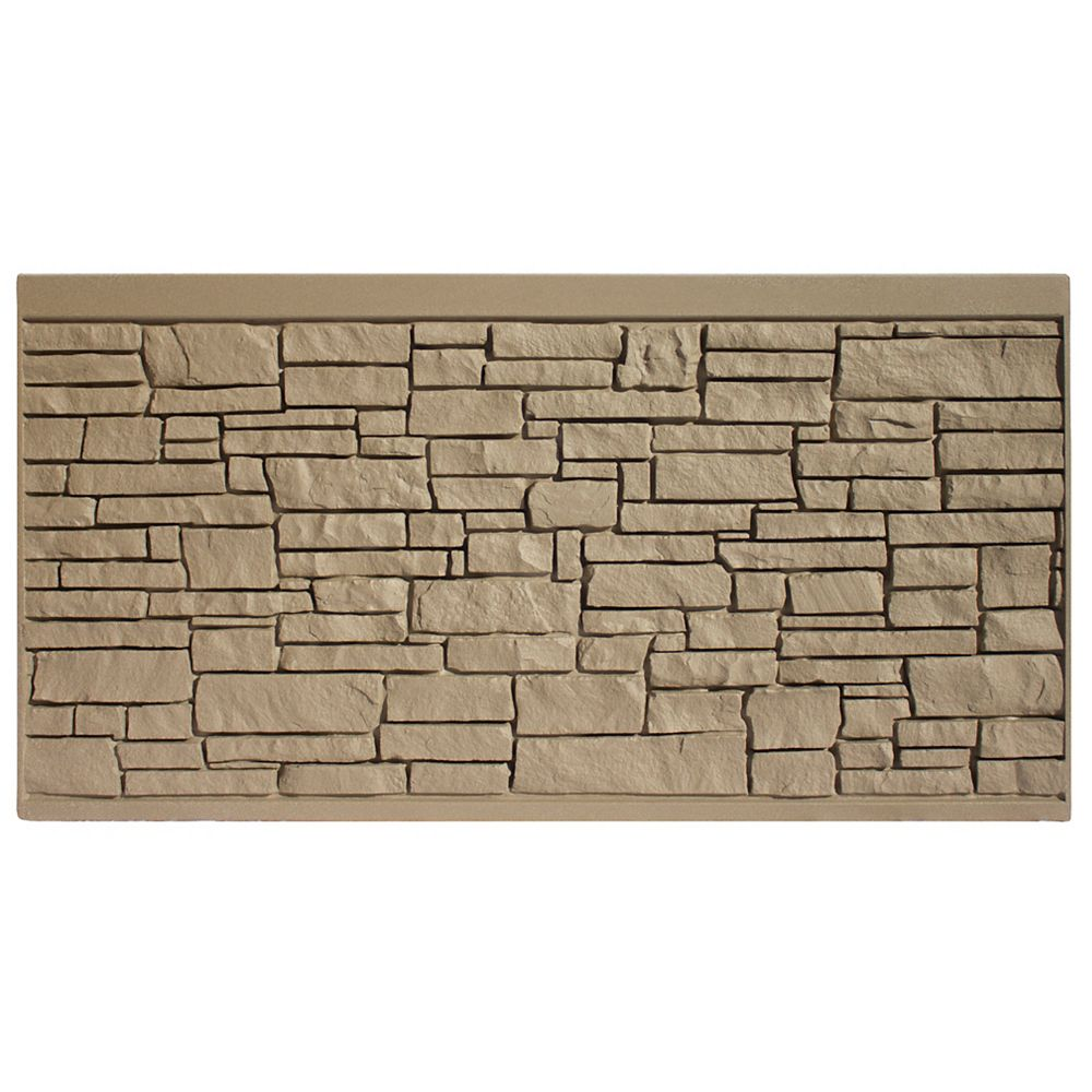 EcoStone 4 X 8  Fence Panel - Brown Granite