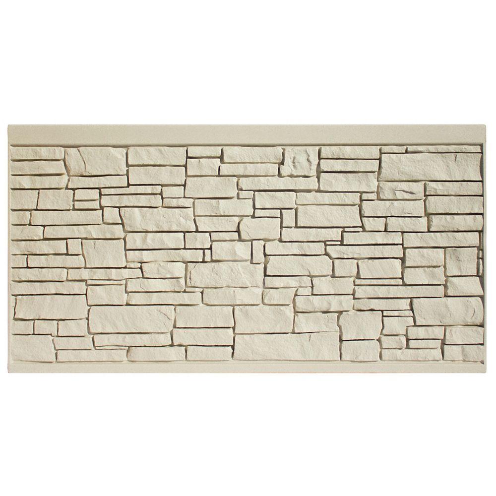 EcoStone 4 X 8  Fence Panel - Beige Granite