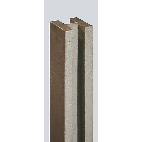 5 inch x 5 inch x 8-1/2 ft. Brown Composite Fence Line Post