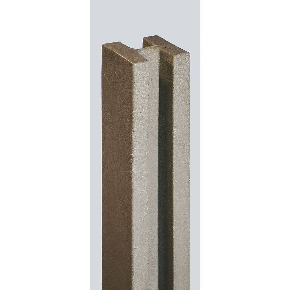EcoStone 5 inch x 5 inch x 8-1/2 ft. Brown Composite Fence Line Post