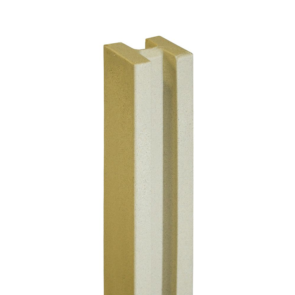 EcoStone 5 inch x 5 inch x 8-1/2 ft. Beige Composite Fence Line Post