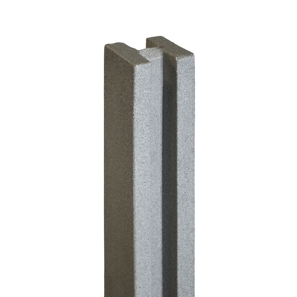 EcoStone 5 inch x 5 inch x 8-1/2 ft. Gray Composite Fence Line Post