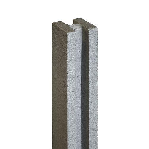 """102"""" X 5"""" Poteau de clôture - Gris Granite"""