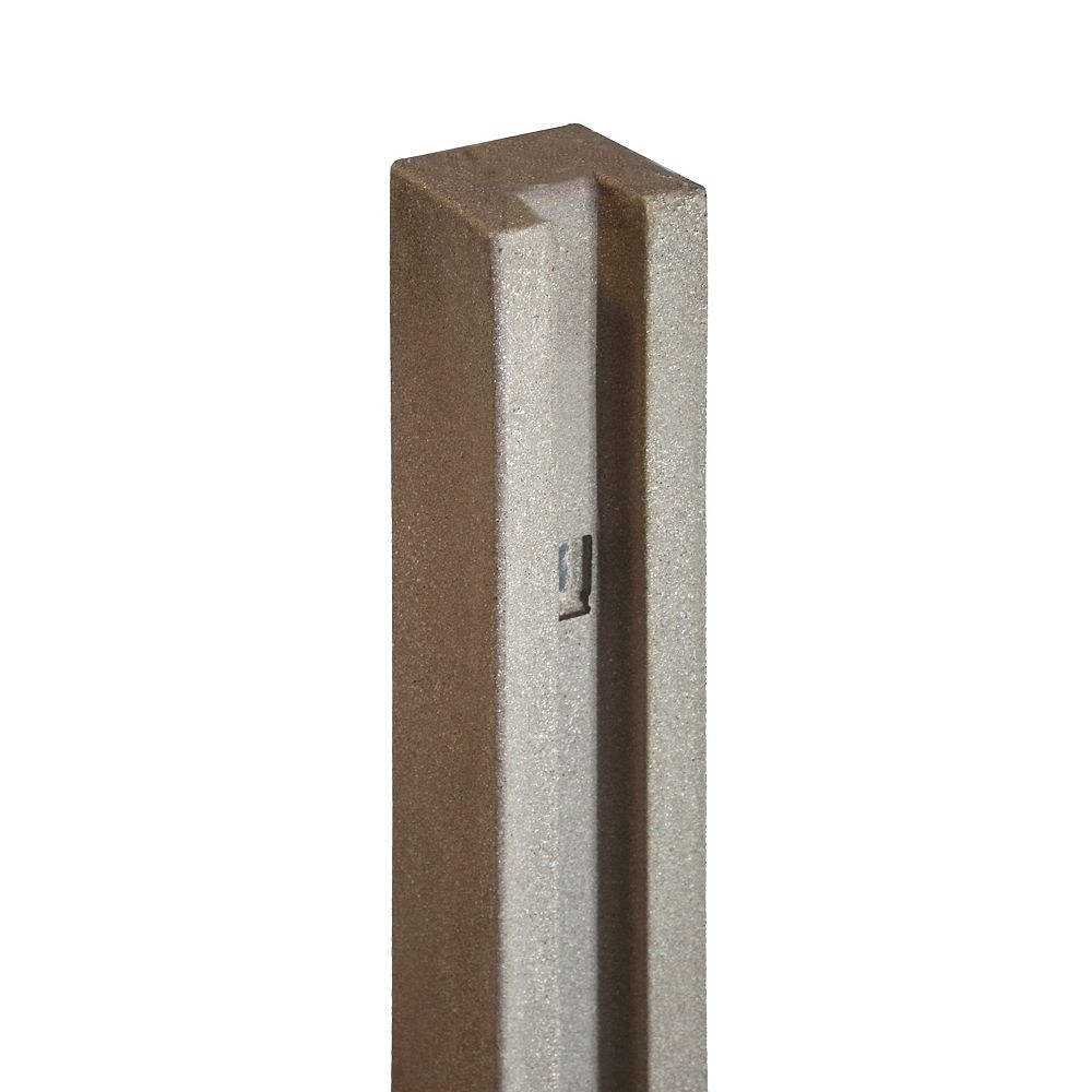 EcoStone 5 inch x 5 inch x 8-1/2 ft. Brown Composite Fence End Post