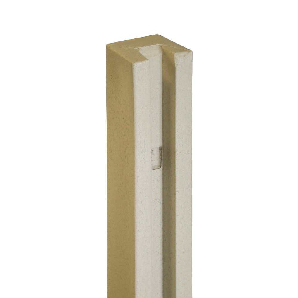EcoStone 5 inch x 5 inch x 8-1/2 ft. Beige Composite Fence End Post