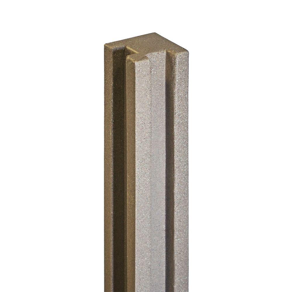 EcoStone 5 inch x 5 inch x 8-1/2 ft. Brown Composite Fence Corner Post