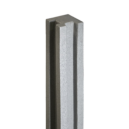 5 inch x 5 inch x 8-1/2 ft. Gray Composite Fence Corner Post