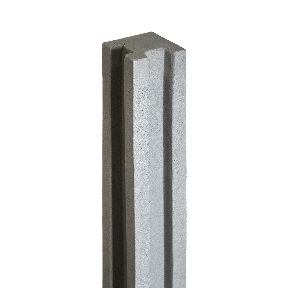 EcoStone 5 inch x 5 inch x 8-1/2 ft. Gray Composite Fence Corner Post