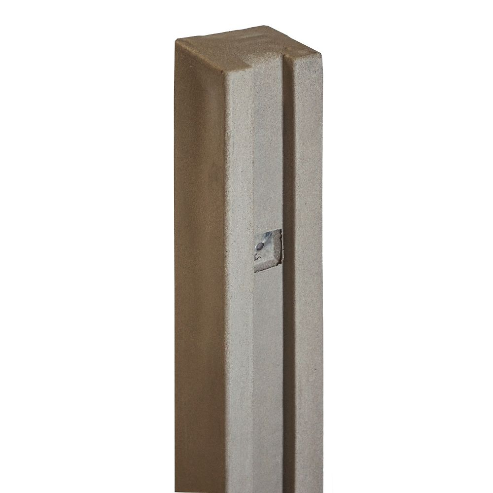 EcoStone 5 inch x 5 inch x 8-1/2 ft. Brown Composite Fence Gate Post