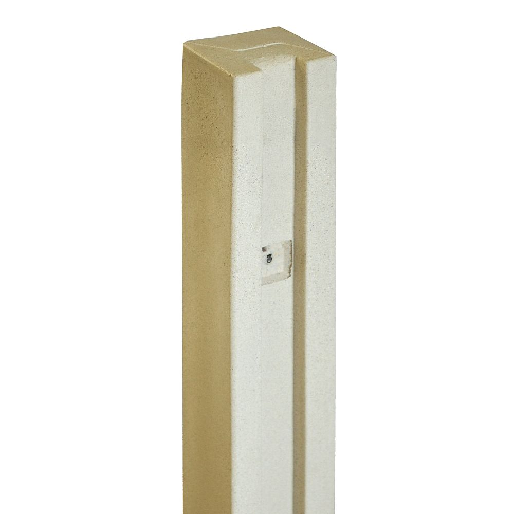 EcoStone 5 inch x 5 inch x 8-1/2 ft. Beige Composite Fence Gate Post